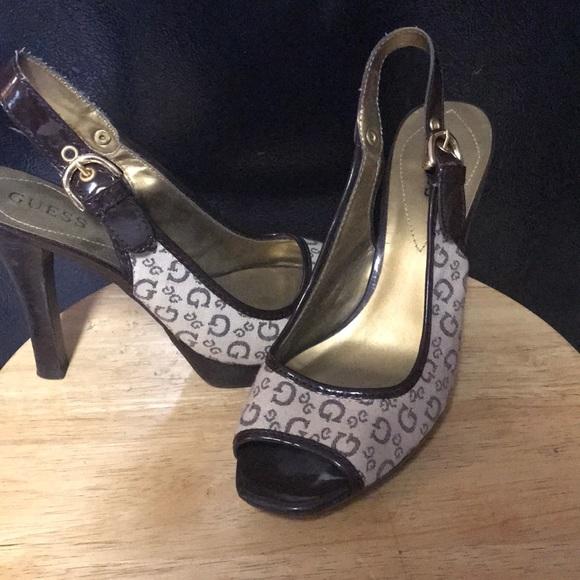 Guess Shoes - Gently warn GUESS peep toe heels.